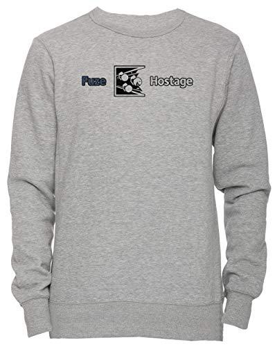 Dont Fuze The Hostage! Unisex Uomo Donna Felpa Maglione Pullover Grigio Dimensioni M Men's Women's Jumper Sweatshirt Grey Medium Size M
