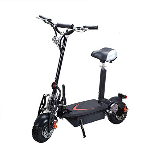Patinete Electrico Adulto Scooter Plegable Todoterreno de Doble Unidad 1500w con Batería de Litio de 48V 20AH,Autono 55km, Scooter Eléctrico Plegable, Juventud Unisex