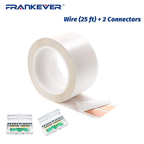 FRANKEVER Super Flat Speaker Wires/Cables,Adhesive-On-Wall Speaker...