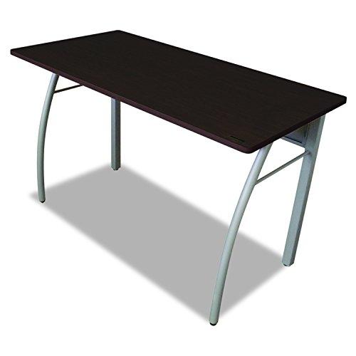 Linea Italia TR733MOC Trento Line Rectangular Desk, 47-1/4w x 23-5/8d x 29-1/2h, Mocha/Gray