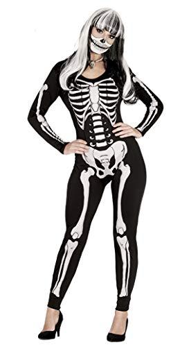 Guirca, costume per adulta da scheletro, Taglia 38–40(88039.0)