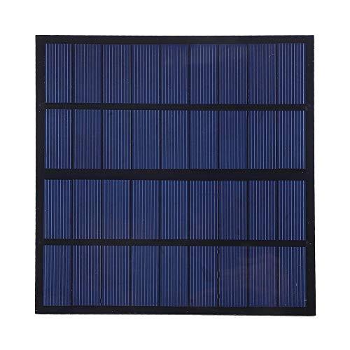 DEWIN zonnepaneel, oplader voor buiten, 3W 9V zonnepanelen, acculader, polykristallijne, silicium, DIY zonne-oplader