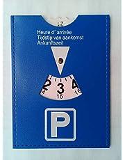 Disco de aparcamiento con las normas europeas, de piel sintética, 15 x 15 cm