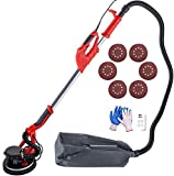 Mophorn Drywall Sander 750W, Electric Drywall Sander, Variable Speed 800-1750 RPM, Foldable Sheetrock Sander, with Telescope Handle, Electric Sander, with LED Strip Light and Vacuum Bag,Wall Sander