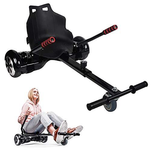 MATHIDA Nachrüst-Kart-Sitz,Hoverboard Kart,Elektro Go-Kart,Sitz hoverboard,Kart Hover Sitz Roller kompatibel mit 6,5, 8, 10 Zoll