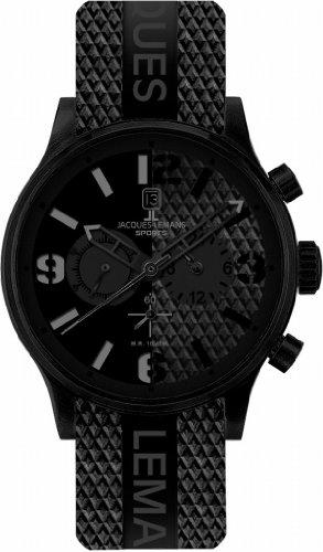 Jacques Lemans Sports Herren-Armbanduhr XL Porto Chronograph Kautschuk 1-1669A
