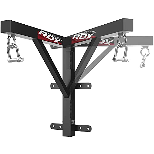 RDX Heavy Iron Boxing Punch Bag Wall Mount Bracket Punching MMA Training Hanger
