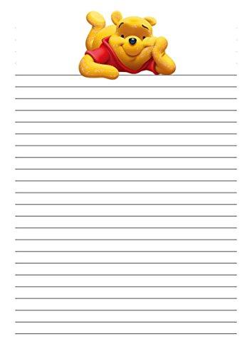 25 A5 Motif Winnie l'ourson/d'écriture sur le thème des petits Établissements papier – étroit doublé papeterie