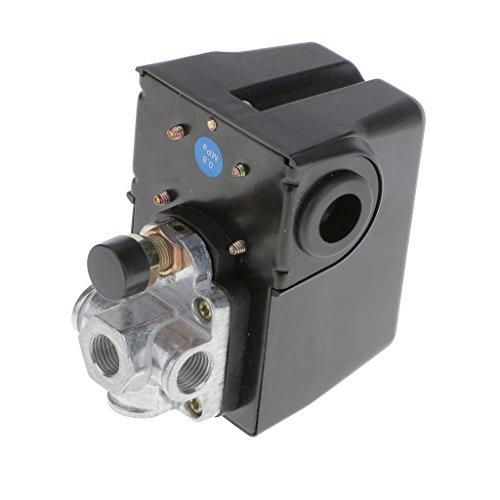 Harilla Interruptor de Presión de Compresor de Aire Monofásico de 4 Puertos