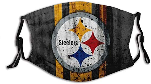 Gesichtsschutz Mundschutz Pittsburgh City Steelers Grunge Futball Stein Textur Nord Division Wiederverwendbarer NAS.