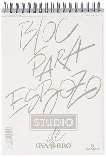 Álbum Espiral Microperforado, A5, 50 Hojas, Guarro Esbozo, Grano Fino 90g
