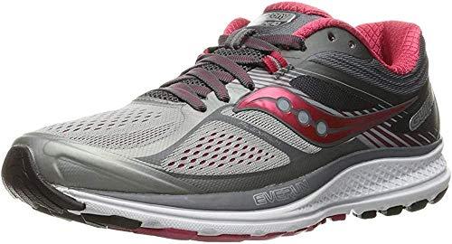 Saucony Women's Guide 10 Running Shoe, Silver   Berry, 8 M
