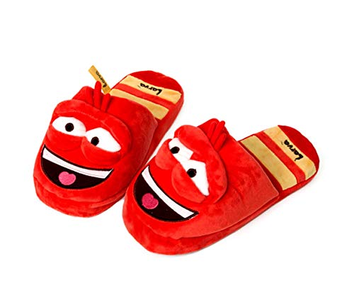Cartoon Larva Red Cute Warm Plush Slippers Soft House Indoor Slipper, One Size for Adults & Kids