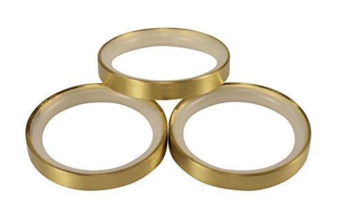 Messing Matt Gardinenringe mit Gleiteinlage für 20 mm Durchmesser Gardinenstangen, 10 Stück