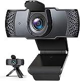 「2020年最新型」IVSO Webカメラ ウェブカメラ フルHD 1080P 三脚付き 100°広角 マイク内蔵 自動光補正 高画質パソコンカメラ USBカメラ PCカメラ 在宅勤務 動画配信 ゲーム実況 ビデオ会議 ネット授業カメラ