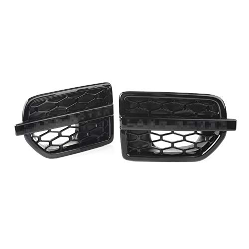 Home of Abby 2pcs Gloss Black ABS ABS Air Ontrak Fender Vents Side Grille Fit for Land Rover Discovery 4 LR4 2011 2012 2013 2014 2015 2015 2016