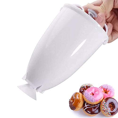 Apofly Mini Donut Maker Maschine Kunststoff Donut Machen Werkzeug DIY Donuts Backform Donatsmaker(Weiß)
