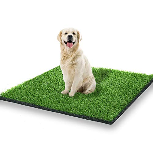 STARROAD-TIM 39.3 x 31.5 inches Artificial Grass Rug Turf for Dogs Indoor Outdoor Fake Grass for Dogs Potty Training Area Patio Lawn Decoration