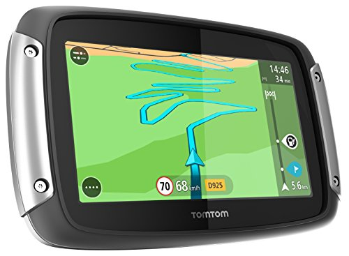 Tomtom Rider 40 Car Pack GPS da Moto, Mappa d' Europa Occidentale, Staffa Auto Inclusa, Nero/Antracite