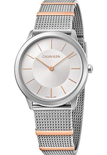 Calvin Klein dames analoog kwarts horloge met roestvrij stalen armband K3M521Y6