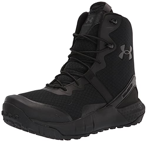 Under Armour Women's Micro G Valsetz Military and Tactical Boot, Black (001)/Black, 10.5
