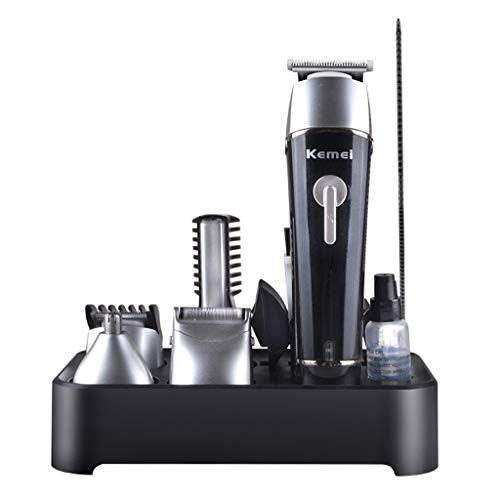N2 Aobiny Electric Hair Clippers for Men Quiet Cordless Rechargeable Hair Trimmers Set, Haircut Barber Cordless Beard, Nose, Hair Trimmer, Best Gift for Men Dad (Black) (Black)