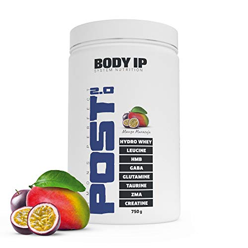 BODY IP Simons Perfect Post Workout 2.0 | Mango Maracuja | mit Hydro-Whey, BCAAs, Glutamin, ZMA, Kreatin | der All-in-One Post Workout Shake