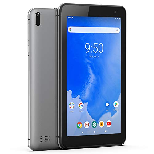 Tablet-PC 7-Zoll WiFi Android 9.0 - Winnovo T7 2GB RAM 16GB ROM HD IPS Display 5G WiFi GPS FM Bluetooth 4.0 Google Verified Metallrahmen (Grau)