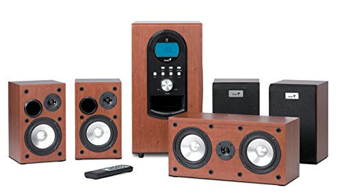 Genius SW-HF5.1 6000 Maple Lautsprecher-System mit Subwoofer für PC Multimedia