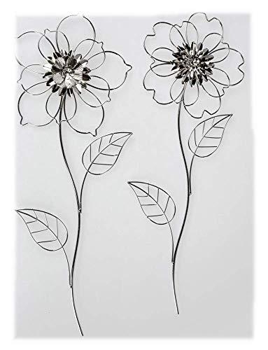 Formano Wanddeko Blume 1 Modell 20 x 58cm Blume Silber sortierter Artikel