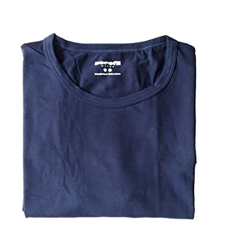 PEROFIL T-Shirt Uomo Bipack Cotone 24520 MCH Confezione 2 T-Shirt Blu TG. 4-M