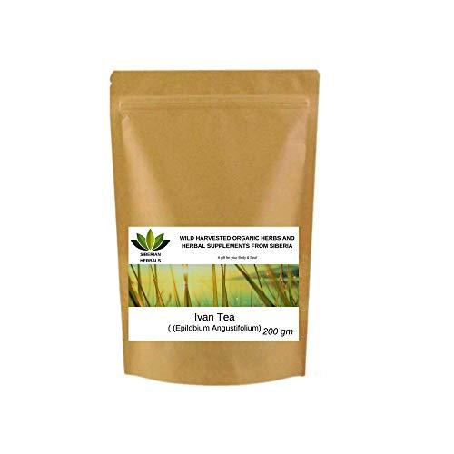 Ivan Tee fermentiertes Weidenröschen Иван-Чай (Epilobium Angustifolium) Wild geerntete Bio-Kräuter aus Sibirien, Russland. (200 Gramm)
