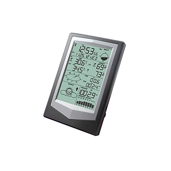 Yadsheng hygrometer thermometer hygrometer barometric pressure weather forecast professional indoor thermometers (color… 3 intelligent function enables you to adjust situation of your wine cellar, greenhouse or other places in time. 3. The rcc time function can be set as wwvb; wireless 433 mhz receiving. Available distance: 100 meters in open field 4. Alarm function: alarm sound gradually enhanced to remind user, alarm time is 2 minutes