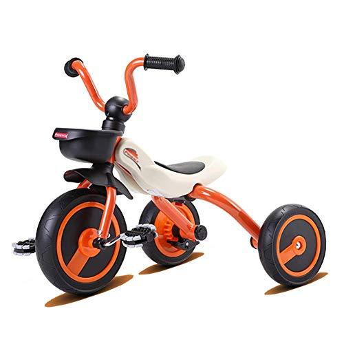 NBgycheche Triciclo Trike Trikes- del niño Triciclo Plegable Edad 2-6 años - 3 Ruedas Paseo reconstrucción-On for Interior/Exterior - Orange (Asamblea rápida) (Color: Naranja) (Color : Orange)