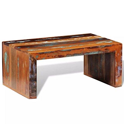 binzhoueushopping Table Basse en Bois recyclé Les Articles décoratifs Stable, Durable et Beau Taille Totale 80 x 50 x 35 cm (L x l x H) Table Basse Design