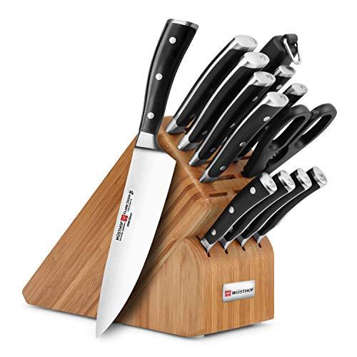 Wusthof Classic Ikon 14-piece Knife Block Set (Bamboo Block)