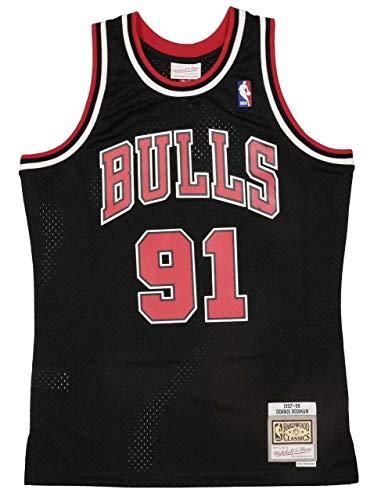 Mitchell&Ness Herren Chicago Bulls Bluse, Black/Black, M