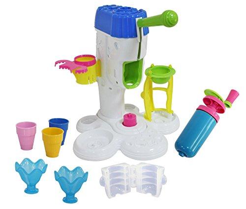 Peipeile Eismaschine groß für Play Doh Kinderknete, Viel Zubehör, Eisdiele Spielen