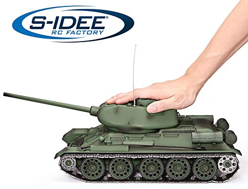 s-idee® 3909-1 Upgrade Version Sowjetunion T-34/85 Sowjetischer RC Kampfpanzer 1:16