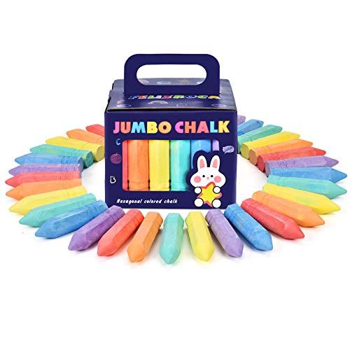 30pcs Tizas Gordas para Niños Coloridas para Pavimento, Pintura de Tiza...