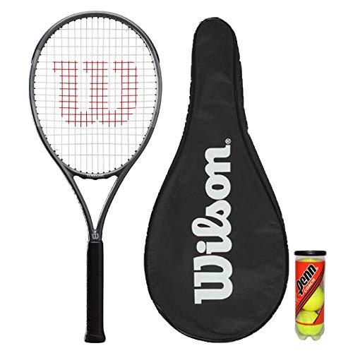 Wilson Pro Staff Precision Team 100 - Raqueta de tenis (incluye funda y 3 pelotas de tenis)