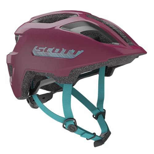 Scott 275232, Casco de Bicicleta Unisex para niño, Color Morado Intenso, Talla...