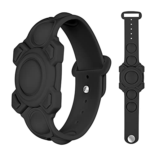 Kids Wristband Airtag Bracelet Case - Silicone AirTag Holder Watch Push Pop Bubble Fidget Toys Locator Protective Cases Anti-Loss for Children and Old Man Compatible with Apple AirTags 2021