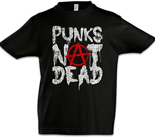 Urban Backwoods Punks Not Dead II Niños Chicos Kids T-Shirt Negro Talla