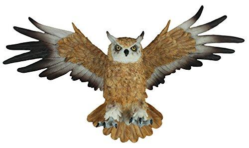 colourliving Dekofigur Wanddeko Eule fliegend Uhu Greifvogel Gartenfigur Tierfigur Wohnung Vogeldeko