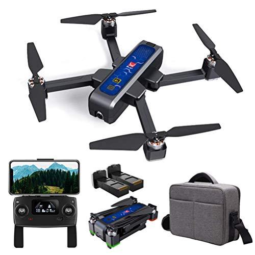 Drone vikbar för vuxna, GPS-drone med 4K HD-kamera, RC Quadcopter-borstlös motor, 5G WiFi-överföring Live Video, en nyckel retur, 1600m kontrollområde, med minneskort Detazhi
