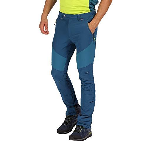 Regatta Herren Mountain Water Repellent Active Hiking Pants Hose, Majolica/Sea Blue, 33-Inch