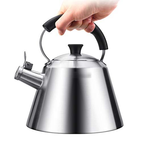 Roestvrijstaal thee Ketel Whistling theeketel voor Stovetop theepot met hittebestendige bakeliethandvat voor gebruik op Gas Inductie of elektrische fornuizen Whistle Tea Pot