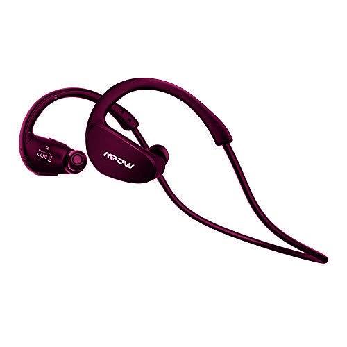 Auriculares Bluetooth Correr, Mpow Cheetah Auriculares Bluetooth 4.1 Deportivos Inalámbricos Manos Libres con Tecnología APTX Avanzada para correr Deporte iPhone7, iPad, LG, Samsung y Otros Teléfonos Móviles Android, Color Negro