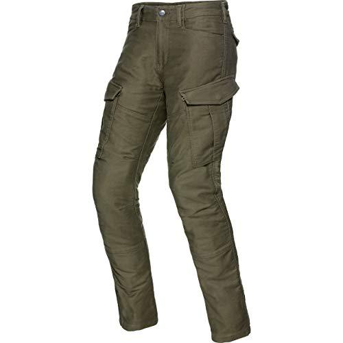 Spirit Motors Motorrad Jeans Motorradhose Motorradjeans Cargo Hose 1.0 grün 36/34, Herren, Chopper/Cruiser, Ganzjährig, Textil